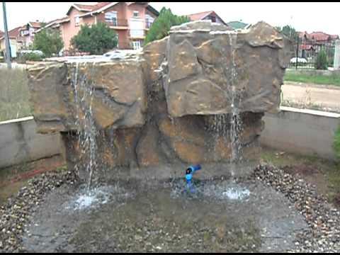 Artificial waterfall in Macedonia, Fontani Makedonija