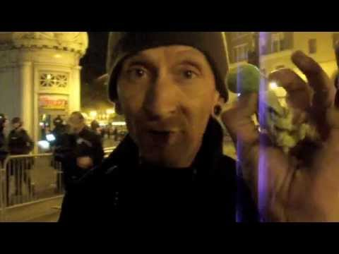 Occupy Oakland: Police shoot beanbag at man picking up flash-bang grenade