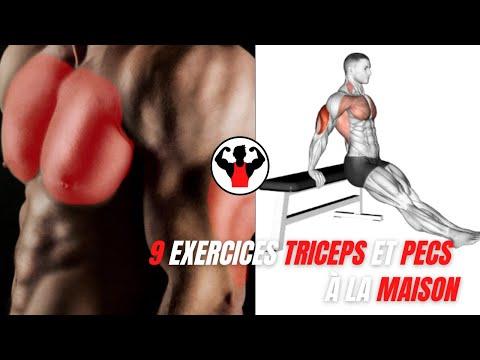 9 exercices pecs et triceps sans matériel.
