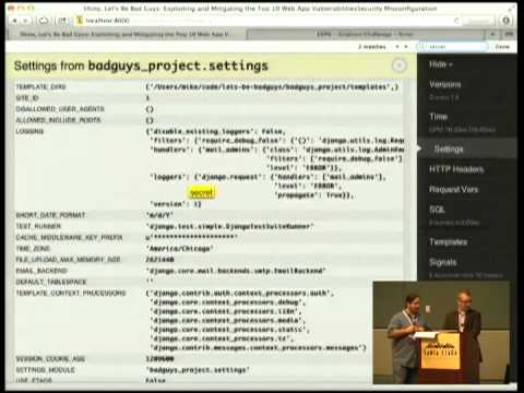 Image from Shiny, Let's Be Bad Guys: Exploiting and Mitigating the Top 10 Web App Vulnerabilities