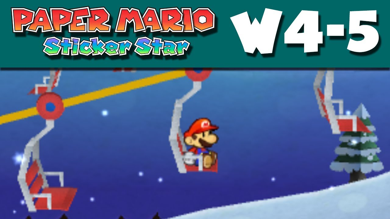 paper mario sticker star 5 1 help Paper mario: sticker star is full of secrets from hidden  world 1-6: goomba  fortress as you near the  world 4-5: whiteout valley timing is.