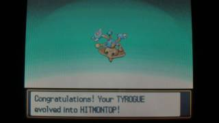 Evolving Tyrogue Into Hitmontop Pokemon Soul Silver