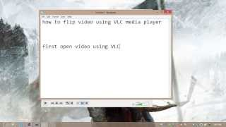How To Rotate Video Using VLC Media Player