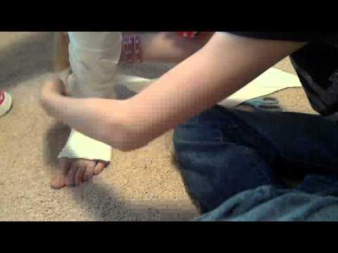 How 2 Make a Fake Leg Cast (long and short)