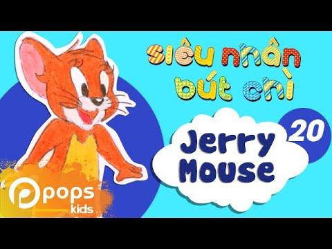 Hướng Dẫn Vẽ Chuột Jerry - Siêu Nhân Bút Chì - Tập 20 - How to Draw Jerry Mouse (from Tom and Jerry)