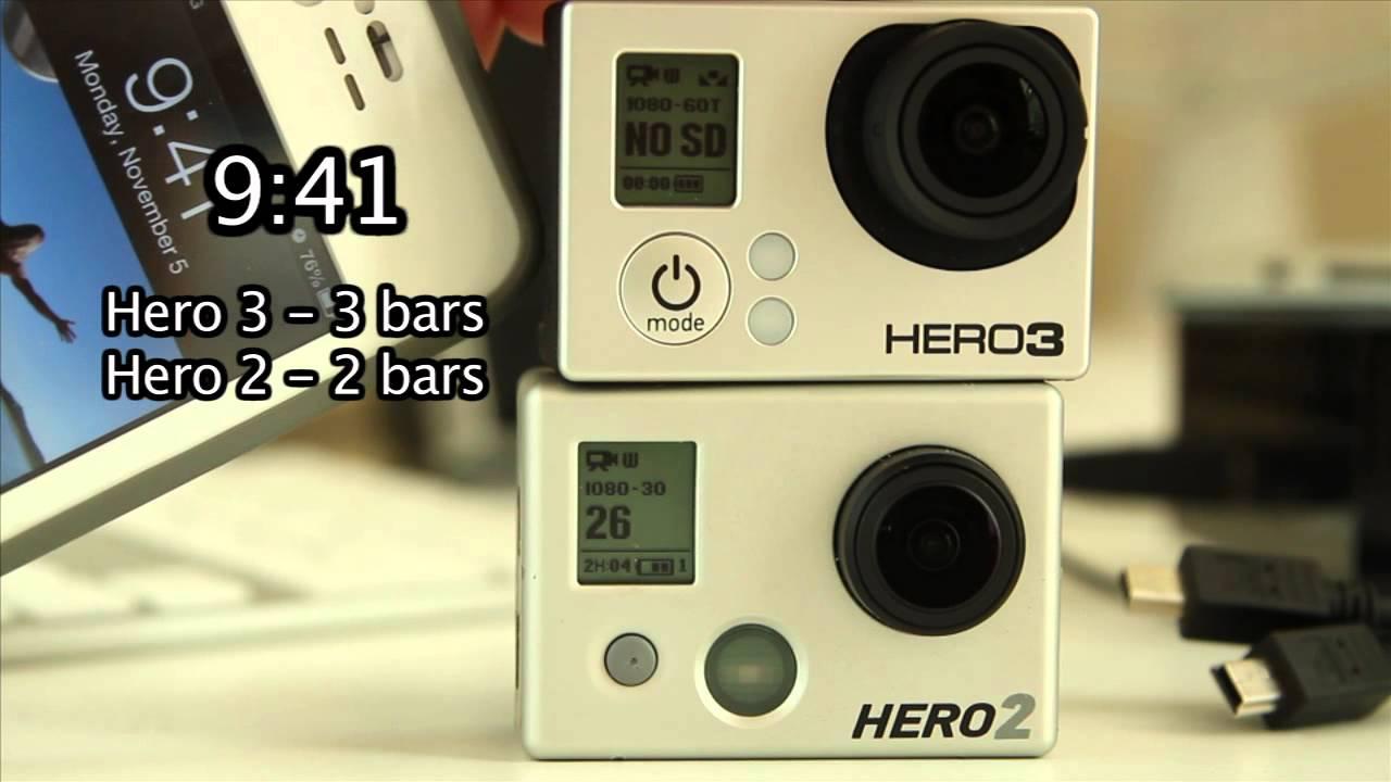 battery life gopro hero 3 vs 2 standby mode gopro tip. Black Bedroom Furniture Sets. Home Design Ideas