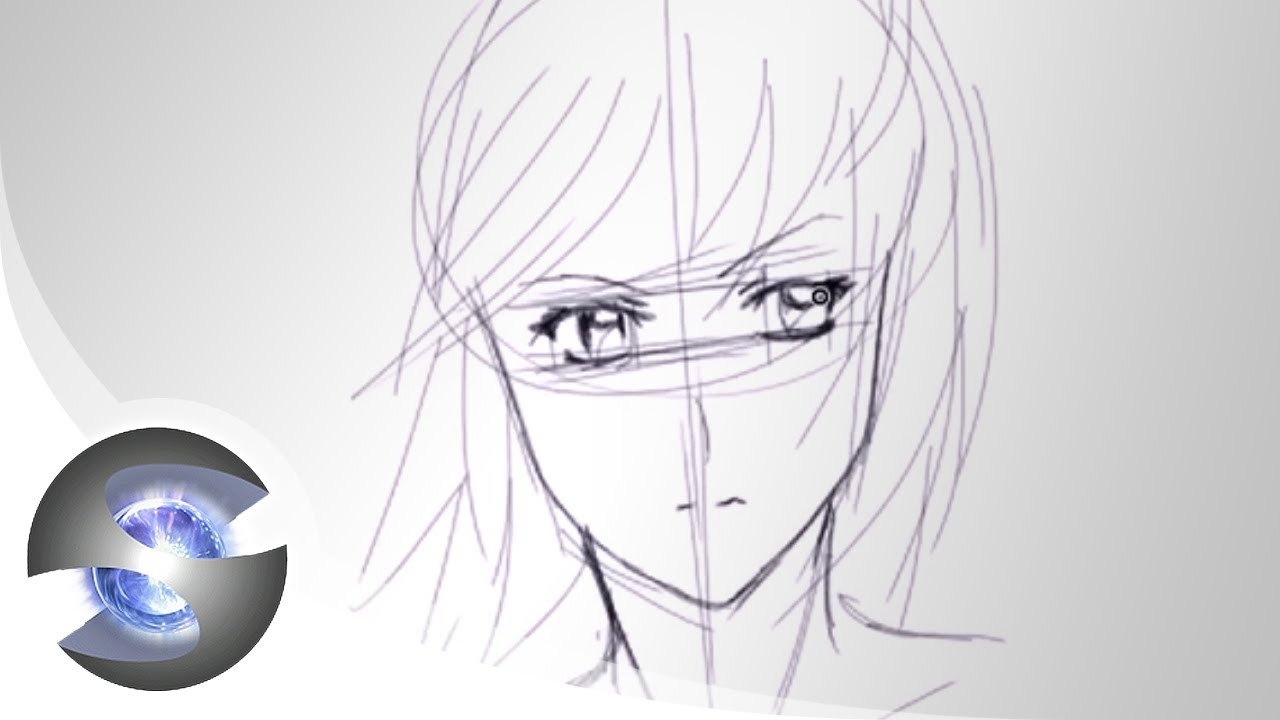 Drawing an Anime Face  Basic Proportions  YouTube
