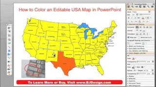 How Do I Color A US State, County Or Country Map In A