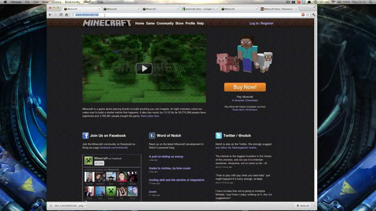 how to change your skin om minecraft pc
