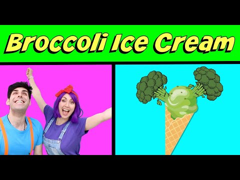 I Like Broccoli Ice Cream Song - Funny Food song for kids by Bella and Beans TV