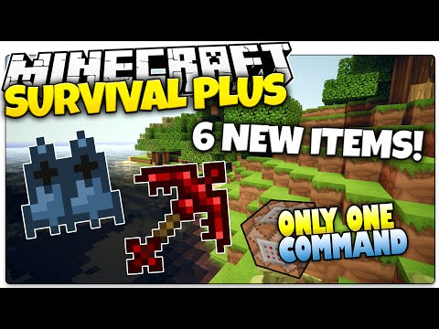 Minecraft | SURVIVAL PLUS | 6 New OP Items! | Only One Command (Minecraft Custom Command)
