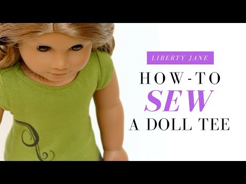 How To Sew a Doll T-Shirt For your American Girl Doll