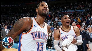Paul George scores 47, Russell Westbrook sets NBA record in Thunder victory   NBA Highlights
