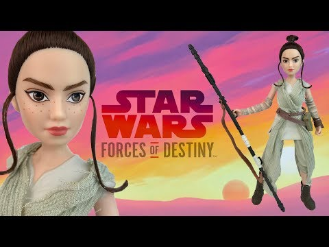 Rey of Jakku from Star Wars: Forces of Destiny (Hasbro doll Review & Unboxing)