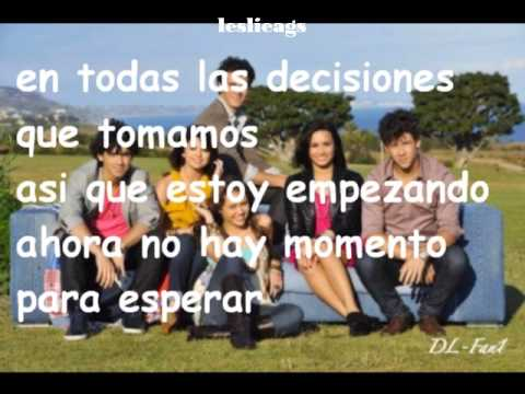 Send it on - Traducida - Jonas Brothers, Demi Lovato, Selena Gomez y Miley Cyrus