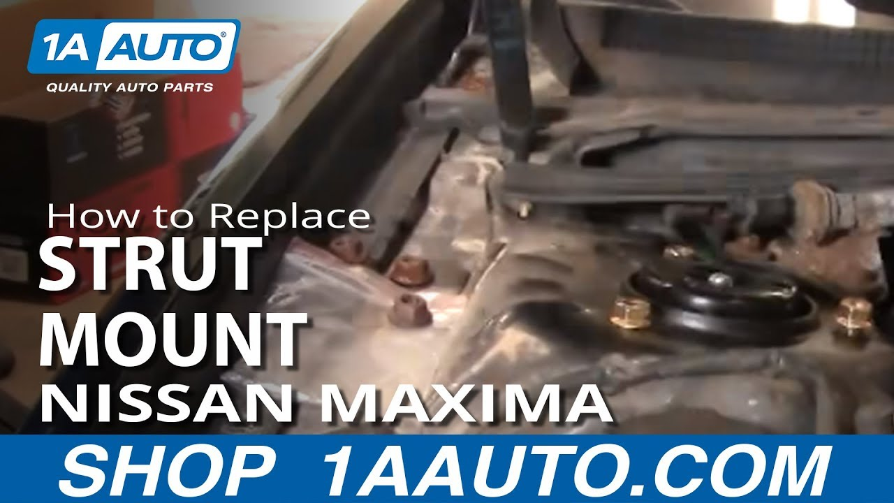 How To Replace Rusted Worn Upper Strut Mount And Bearing