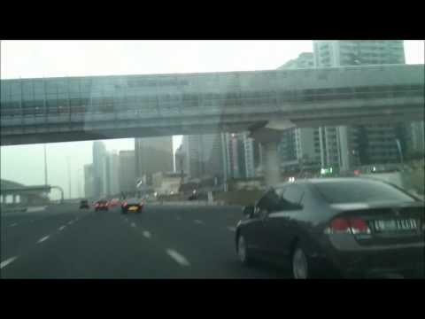 Driving in marina dubai with some memorial pics