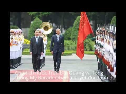 Lễ đón Tổng thống Mỹ Obama tại Phủ Chủ tịch