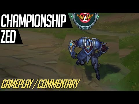 how to get championship zed skin