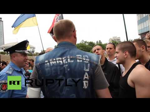 Ukraine: Protesters and security forces clash outside Russian Consulate in Odessa