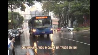 Chuva alivia calor em Belo Horizonte