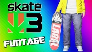 Skate 3 Funny Moments Wipeouts, Tornado, Hall Of Meat