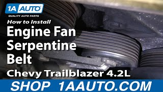 How To Install Repair Replace Engine Fan Serpentine Belt