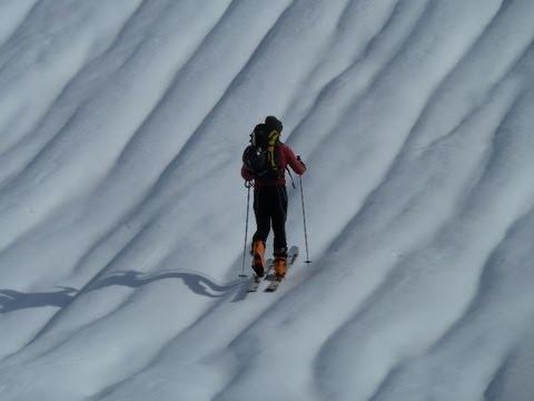 Ascensión y descenso con esquís del Arbelaitz y Enaitz