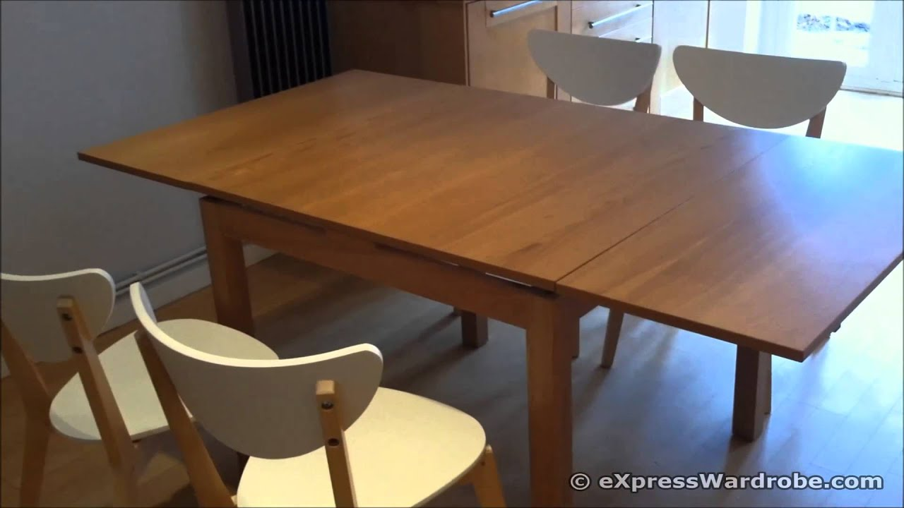 ikea bjursta extendable dining table brown gallery