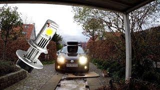 LED vs. Halogen, install and test