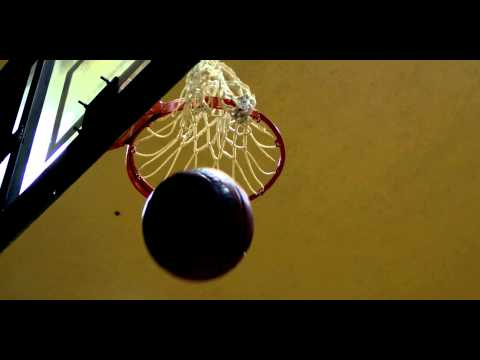 "Royalty Free Stock Footage of Slow motion shot of a ""nothing but net"" basketball shot."
