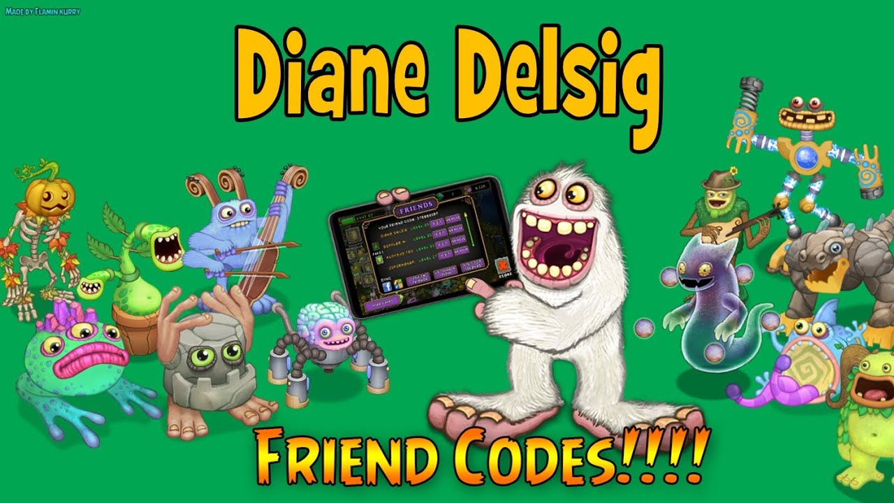 FRIEND CODES for My Singing Monsters: Updated 11/02/2013 - YouTube