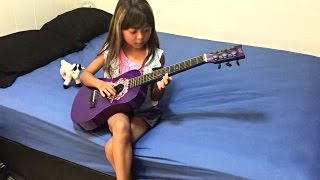 Amazing Guitar Solo on kids Toy First Act Guitar
