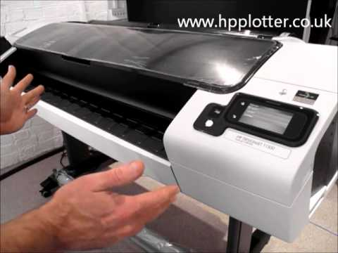 Designjet T1300/T790/T2300eMFP Series - Load paper/media roll on your printer