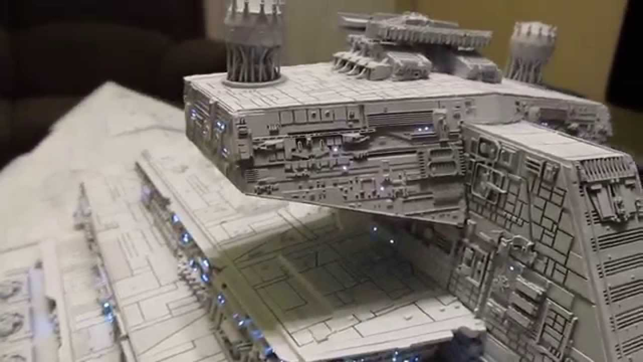 Avenger Star Destroyer Built And Lighted Model Part 2