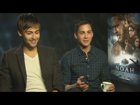 Douglas Booth and Logan Lerman talk snogging Emma Watson, bunk beds and saving puppies