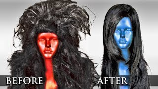 How To: Fix Damaged Synthetic Hair? Turn Old Wigs Into New