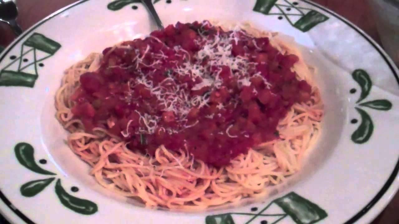 Capellini Pomodoro At Olive Garden Chicken Gnocchi Soup Salad Youtube