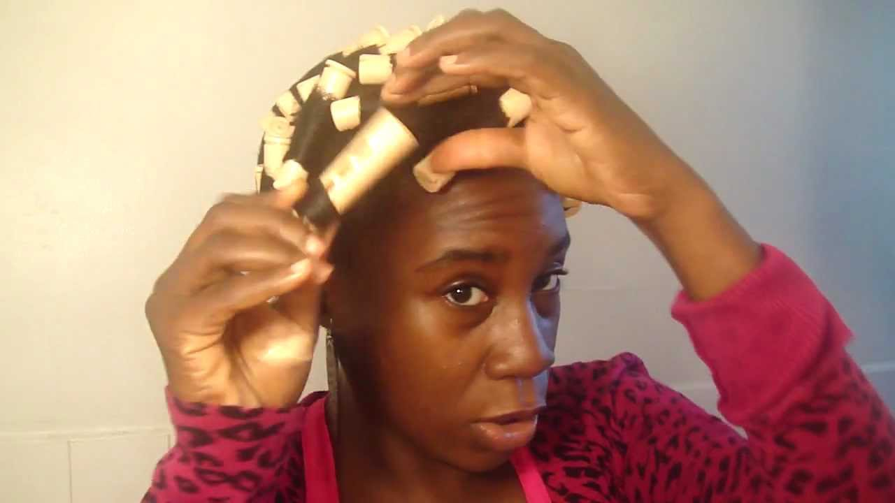 "Natural Hair: ""Roller Set"" Semi Success - YouTube"