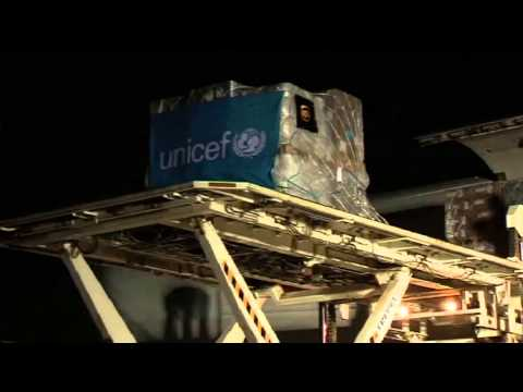 Critical humanitarian aid for Syrian refugee children airlifted to Iraqi Kurdistan