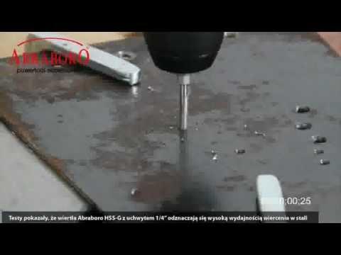 Test wierteł do metalu Abraboro HSS G z uchwytem 1/4 cala