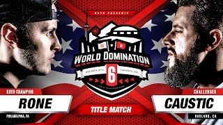 KOTD - Rap Battle - Rone vs Caustic (Title  Match) | #WD6ix