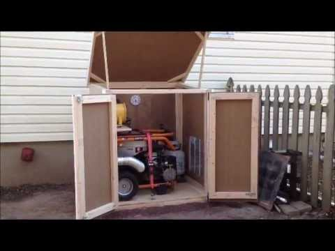 Outdoor Enclosure for Portable Generator - YouTube