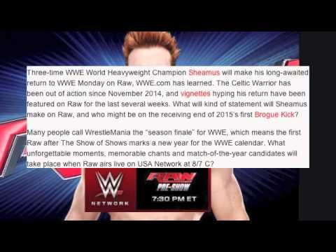 WWE Raw 3/30/15 Wrestlemania POST Show! Sheamus Returns! 3 NEW CHAMPS!