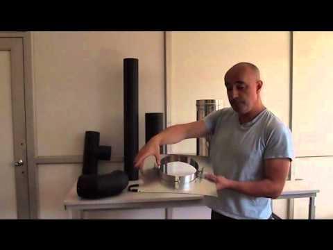 montage d 39 un conduit de fum e par l 39 int rieur youtube. Black Bedroom Furniture Sets. Home Design Ideas