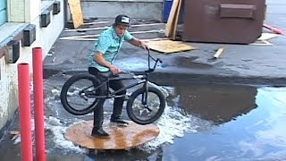 Parkour on a BMX Bike