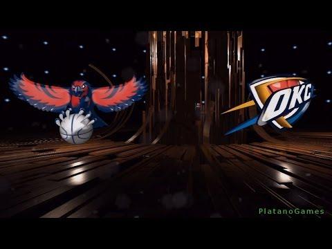 NBA Atlanta Hawks vs Oklahoma City Thunder - 1st Qrt - NBA Live 14 PS4 - HD