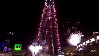 Massive Fireworks In Dubai Lights Up Burj Khalifa To