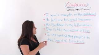 Compound Words, ESL English Lesson