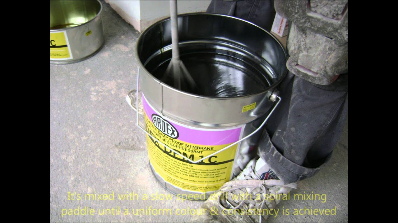 How we install a liquid or surface Damp Proof Membrane.(DPM)   #8E1EAD